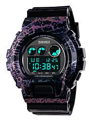 SKMEI 1150 La femme de montres hommes montagne montre de sport en plein air important double escalade mâle montre électronique étanche a