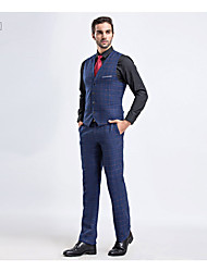 Men's Work Simple Spring Suit,Solid Shirt Collar Long Sleeve Regular Cotton