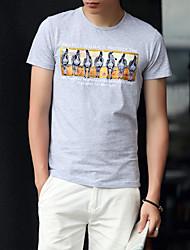 Sommer 2017 Sommer neue Männer&# 39; s Rundhals Kurzarm T-Shirt drucken dünne mitleidige junge Männer