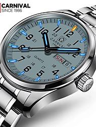 Carnival Мужской Модные часы Наручные часы Кварцевый Нержавеющая сталь Группа Белый Белый