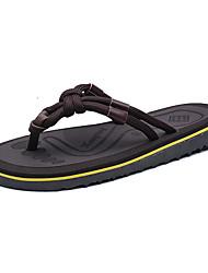 Men's Slippers & Flip-Flops Summer Slingback Light Soles Microfibre Leather Outdoor Casual Flat Heel