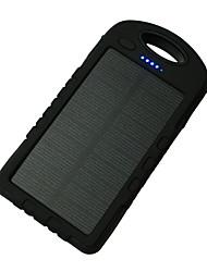 8000mAhbanco do poder de bateria externa Recarga com Energia Solar Output Múltiplo Lanterna 8000 1000Recarga com Energia Solar Output