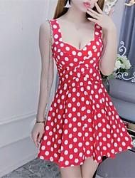 sexy senhoras verão novo dot moda boate vestido de cintura vestido europeu e americano era magro