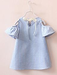 Girl's Casual/Daily Check Dress,Cotton All Seasons Half Sleeve