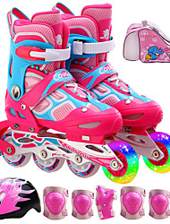 Kid's Unisex Inline Skates Adjustable Blue/Black/Blushing Pink/Yellow
