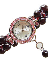 Women's Fashion Watch Quartz Jade Band Red