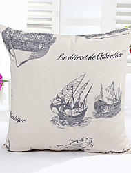 1 Pcs  Sailing Decorative Pillow Cover