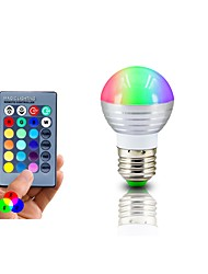 Lampe LED rgb e27 3w led rgb light lampada led bulbe 85-265v smd5050 16 couleurs change avec ir télécommande