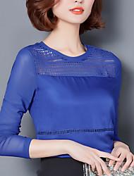 Sinal 207 novo sólido cor v-pescoço longo seção gordura mm camisa magro minimalista bottoming conforto