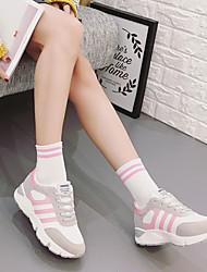 16 novos de fundo pesado sapatos de desporto feminino coreano estudante ulzzang tênis de corrida sapatos casuais laço branco selvagem