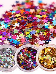 1 Box Laser Nail Glitter Sequins Sparkle Paillette Manicure Nail Art Decoration