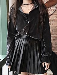 unterzeichnen 2016 koreanische Version der Herbst und Winter Joker-PU-Leder-Rock Taille war dünn Röcke Faltenrock kleines schwarzes Kleid