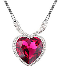 Women's Pendant Necklaces Crystal Chrome Love Heart Fashion Personalized Jewelry For Wedding Party Birthday Congratulations 1pc
