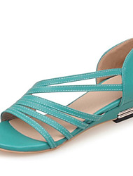 Women's Sandals Summer Club Shoes Comfort Leatherette Office & Career Dress Casual Low Heel Braided Strap