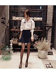 2016 Frühjahr neue Winter Korea partysu umsäumt Lilie bestickte Shirts Auge