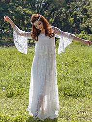 été nouveaux vêtements de vacances fée littéraire rétro brodé robe en dentelle dieu jupe large swing