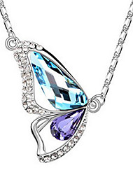 Women's Pendant Necklaces Jewelry Wings / Feather Chrome Simple Style Jewelry For Thank You Gift Daily 1pc