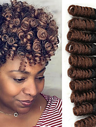 Curlkalon crotchet braid Saniya curl haar extension 10inch Curlkalon crotchet hair kanekalon hair braiding 20roots/pack 5packs make head