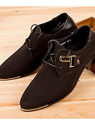 Для мужчин Ботинки С Т-образной перепонкой Резина Лето Повседневные Для прогулок С Т-образной перепонкой На плоской подошве ЧерныйНа