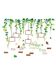 Wall Stickers Wall Decals Style Green Vine Photo PVC Wall Stickers
