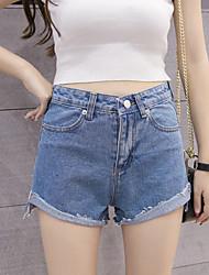 signer anciens coréen short taille haute sertissage lâche après une courte longueur de large short en jean de jambe marée femelle