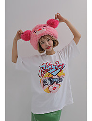 Stylenanda same paragraph Korean cute printing loose T-shirt