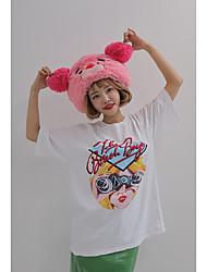 Stylenanda même paragraphe korean cute printing loose t-shirt