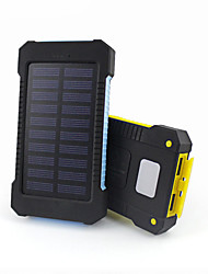 2017 New Portable Waterproof Solar Power Bank 10000mah Dual-USB Solar Battery Charger powerbank for all Phone Universal Charger
