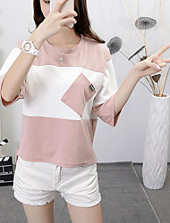 signe automne nouvelle coréen vent collège décousu manches courtes T-shirt manches longues femme marée