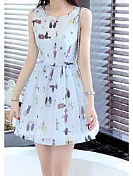 vrai coup de modèle été 2016 robe en mousseline de soie était mince robe mince