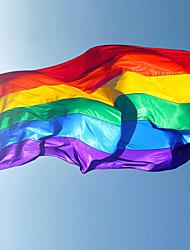 1pcs 90x150cm bandeiras arco-íris e banners lésbica orgulho gay lgbt bandeira de poliéster bandeira arco-íris colorido para decoração