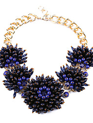 Women's Statement Necklaces Flower Chrome Personalized Euramerican Jewelry For Wedding Congratulations