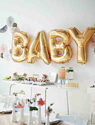 4pcs 16'' Cute Silver/Gold Foil Ballon Helium Balloon Kids Birthday Event Party Supplies Baby Shower Party Decorations Wedding