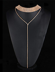 2017 Long Gothic Rhinestone Crystal Choker Necklace For Women Sexy Double-Strand Layered Tattoo Necklaces Boho Jewelry Gift