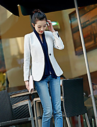 2016 Autumn collarless small suit women new Korean version nine points sleeve small suit Slim thin female