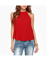 Women's Going out Casual/Daily Sexy Summer Blouse,Solid Off Shoulder Sleeveless Others Thin