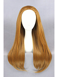longs citron miel grand héros droits 6 perruque brune cosplay anime 28inch wigcs-240a