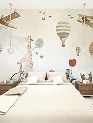 Art Decó 3D Fondo de pantalla Para el hogar Contemporáneo Revestimiento de pared , Lienzo Material adhesiva requerida Mural ,