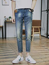 2017 primavera e verão novos adolescentes calça jeans-calça fina