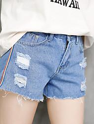 assinar primavera buraco mastigar e verão novo lado coreano puxar barras vermelhas piscam Shorts fêmeas