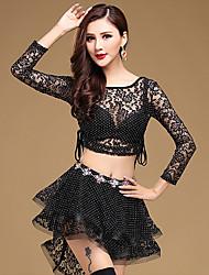 Devemos roupas de dança da barriga mulheres treinar laço 2 peças de trajes de dança