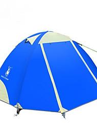 2 Pessoas Duplo Um Quarto Barraca de acampamentoEquitação Campismo Viajar-Verde Azul