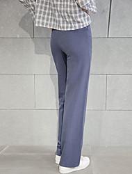 Primavera 2017 sinal de cintura ligeiramente femininos coreanos fino foi calças mop finas grandes estaleiros soltos, calças casuais