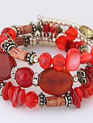 Femme Bracelets de rive Mode Bohême Coquillage Alliage Forme Géométrique Orange Bleu de minuit Rouge Rose Bleu clair Bijoux Pour Soirée