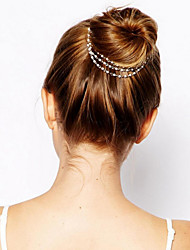 1 Pcs Delicate Multilayer Pearl Tassel Dish Hair Hairpin Hair Accessories