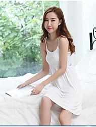 Women's Babydoll & Slips Garters & Suspenders Nightwear,Lace Solid-Medium Modal