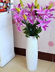 1 Ast Faser Lilien Tisch-Blumen Künstliche Blumen 40*40*87