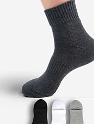 Men's Socks Camping / Hiking Climbing Exercise & Fitness Racing Leisure Sports Breathable Thermal / Warm Low-friction SoftWhite Black