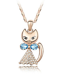 Women's Pendant Necklaces Crystal Chrome Unique Design Animal Design Euramerican Fashion Jewelry ForWedding Party Birthday