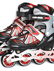Kinder Inline-Skates EinstellbarSchwarz/Orange
